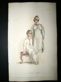 Ackermann 1811 Hand Col Regency Fashion Print. Opera Dresses 5-31